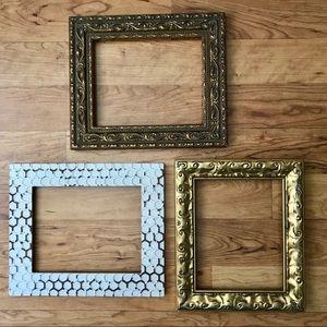 3 Piece Mixed Textured Frames Gallery Decor